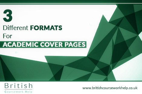 3 Different Formats For Academic Cover Pages