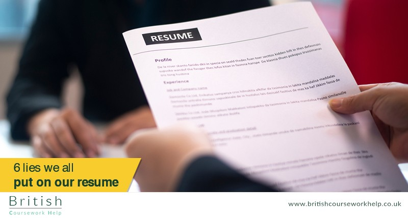 6 Lies We All Put on Our Resume